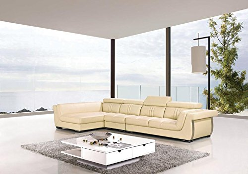 3pc Modern Contemporary Adjustable Sectional Leather Sofa Set, AK ...