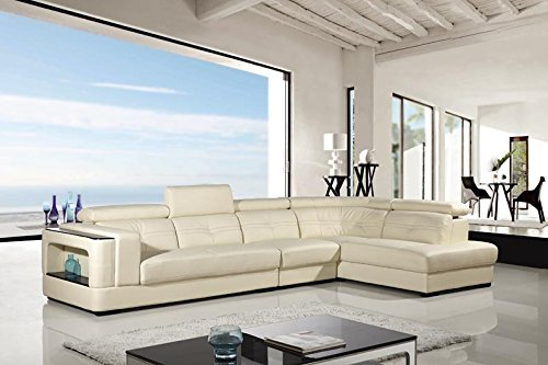 3pc Modern Contemporary Adjustable Sectional Leather Sofa Set, AM ...