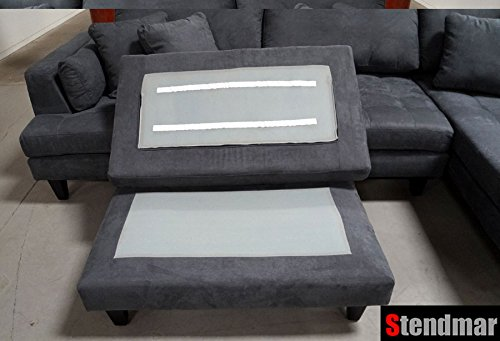 3pc New Modern Dark Grey Microfiber Sectional Sofa
