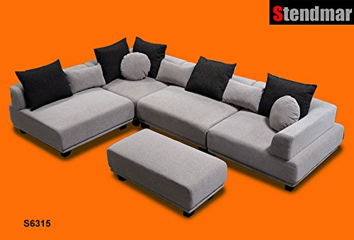 5pc Modern 10 Functions Setup Fabric Sectional Sofa S6315g Best