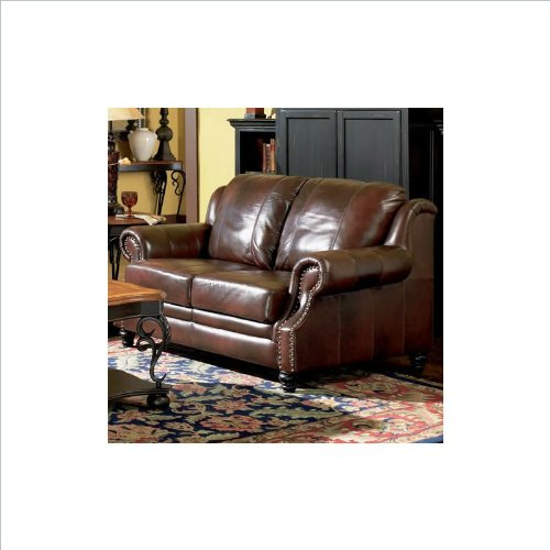 Coaster Home Furnishings Traditional Loveseat Dark Brown Best Sofas Online Usa