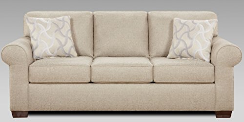 Compel Smoke Fabric Sofa W 2 Pillows Made In Usa Best Sofas