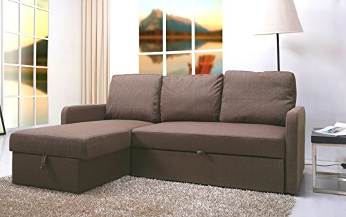 Corvo Convertible Sofa Bed, Sofa Sectional (Brown) - Best Sofas ...