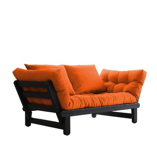 fresh futon beat convertible futon sofabed black frame  fresh futon beat convertible futon sofa bed black frame orange      rh   bestsofasonline