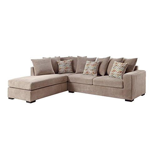 Coaster Olson 500086 102 Quot Reversible Sectional Sofa With