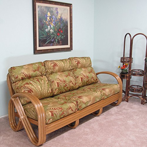 Premium Rattan Kailua Sofa Made To Order In The Usa 100 Assembled Best Sofas Online Usa