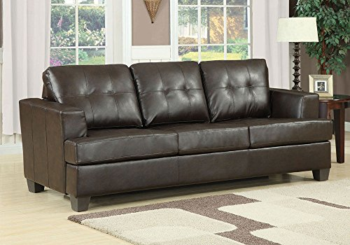 1perfectchoice platinum modern sofa 3 seater pull out for Tufted leather sleeper sofa
